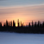 sunset in Inuvik